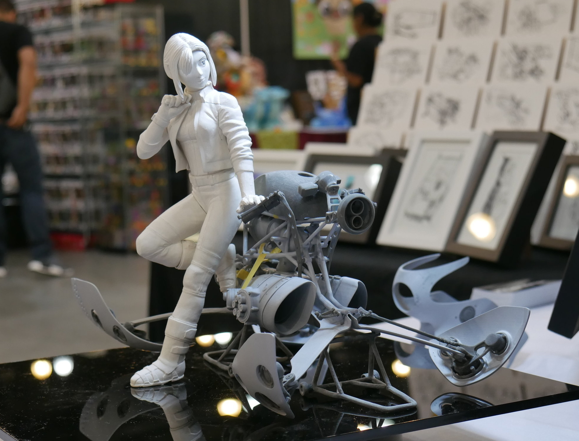 1/8th scale Resin Garage Kit - + Resin Casted Parts+ SLA 3d Printed accessories+ Water slide decals+ Hoverbike ~ 70 parts+ Ryder Figure ~ 15 parts+ Assembly Guide