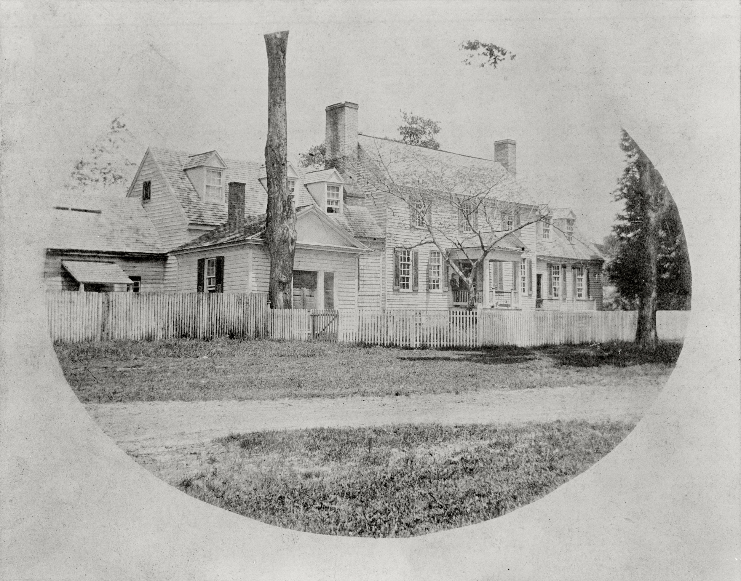 St. George-Tucker House, ca. 1904 (home of Mrs. Cynthia Bevery Tucker Coleman)