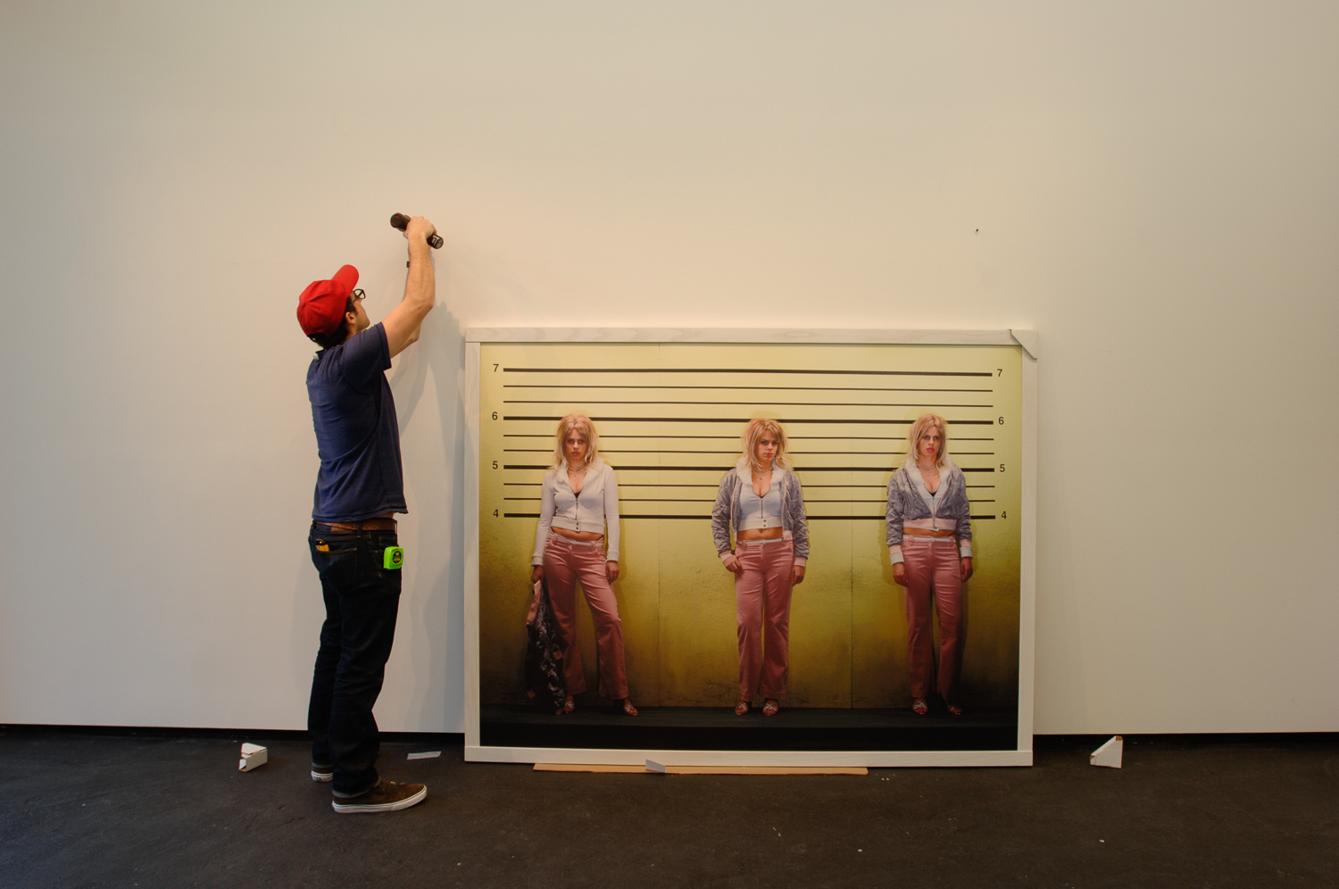 TRIIIBE installing show at Dodge Gallery, New York. January 5, 2011.