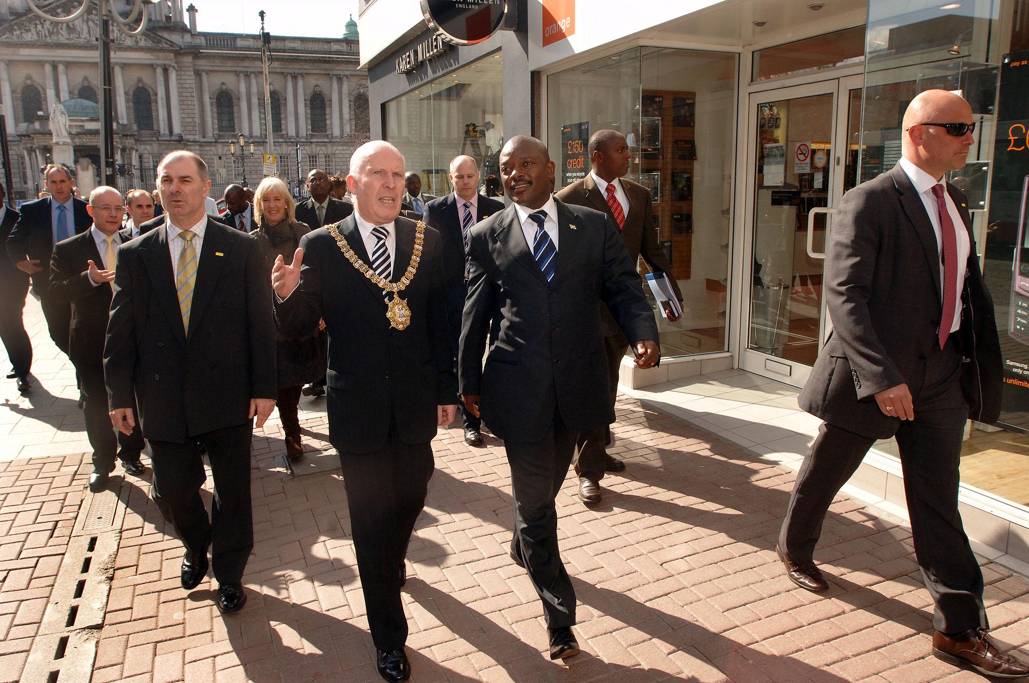 President of Burundi Visit NI