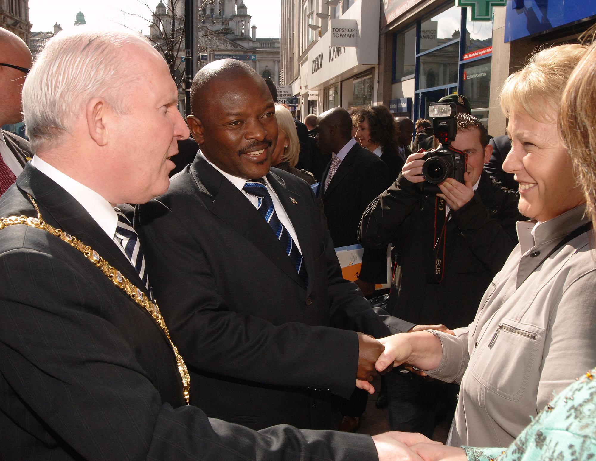 Presient of Burundi visits Northern Ireland
