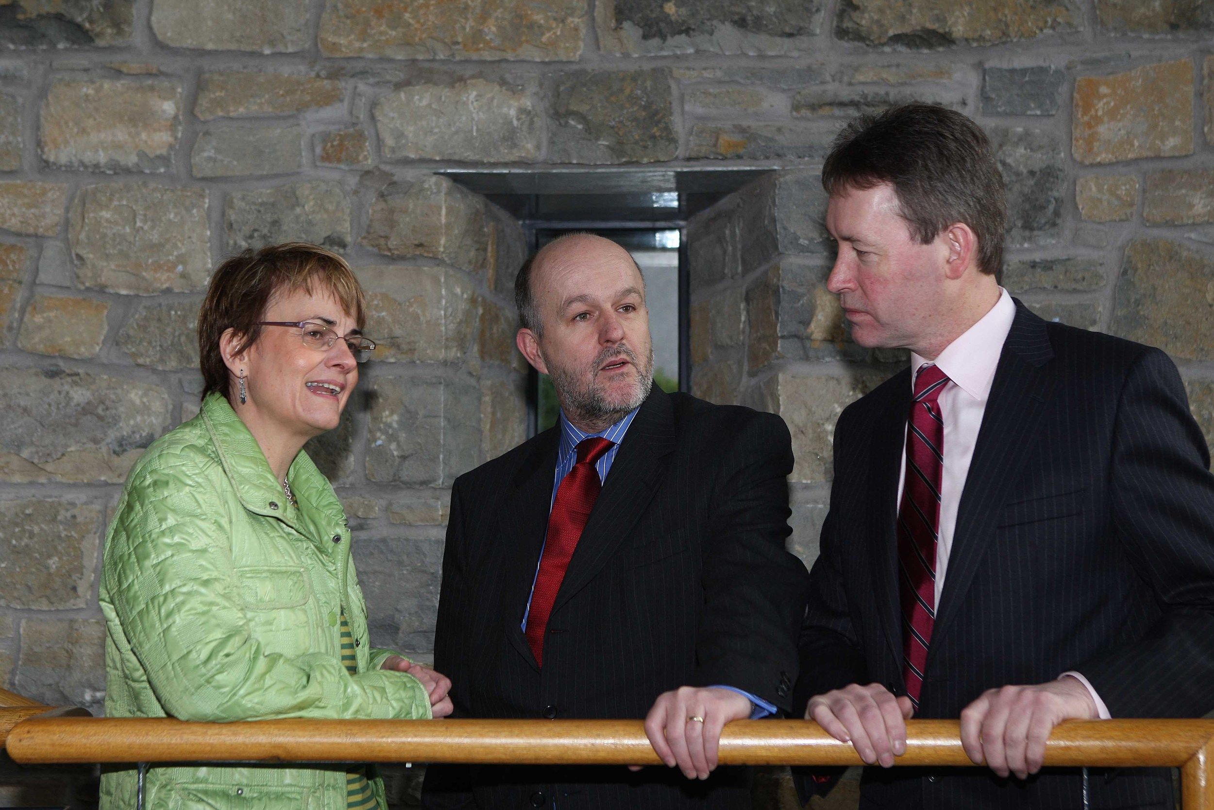 Minister for Social Development, Margaret Ritchie MLA and Mininster of Community, Rural and Gaeltacht, John Curran TD launch a cross border volunteering initiative - involving the Church of Ireland, Voluntary Arts Ireland and the Ulster Council of the GAA.