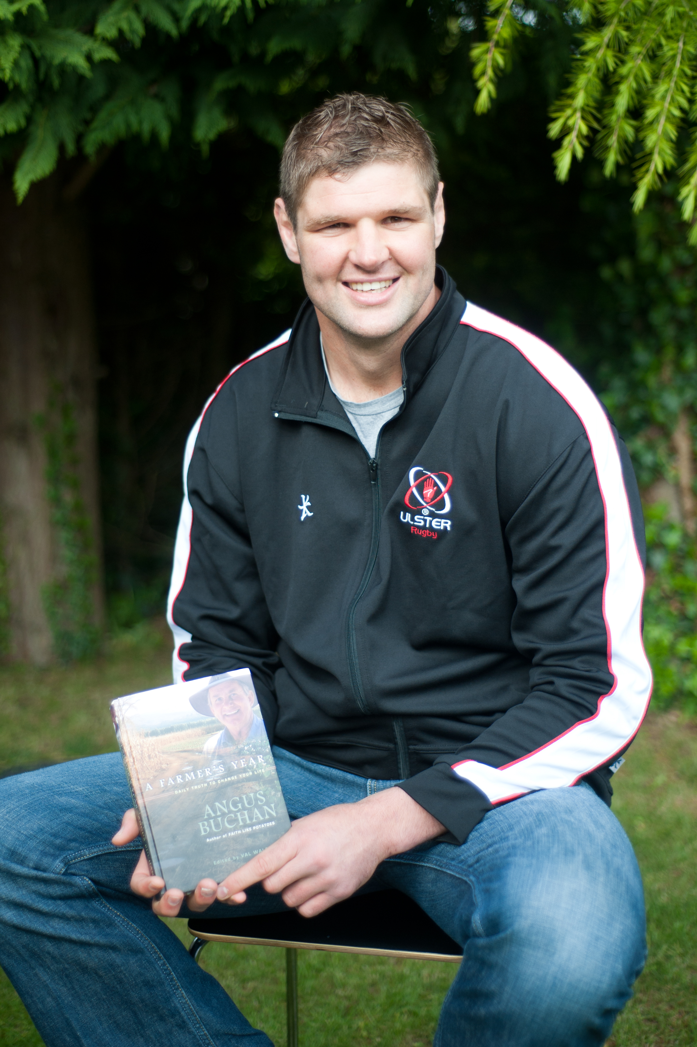 Ulster Rugby's Johann Mueller supports Maize'n Grace