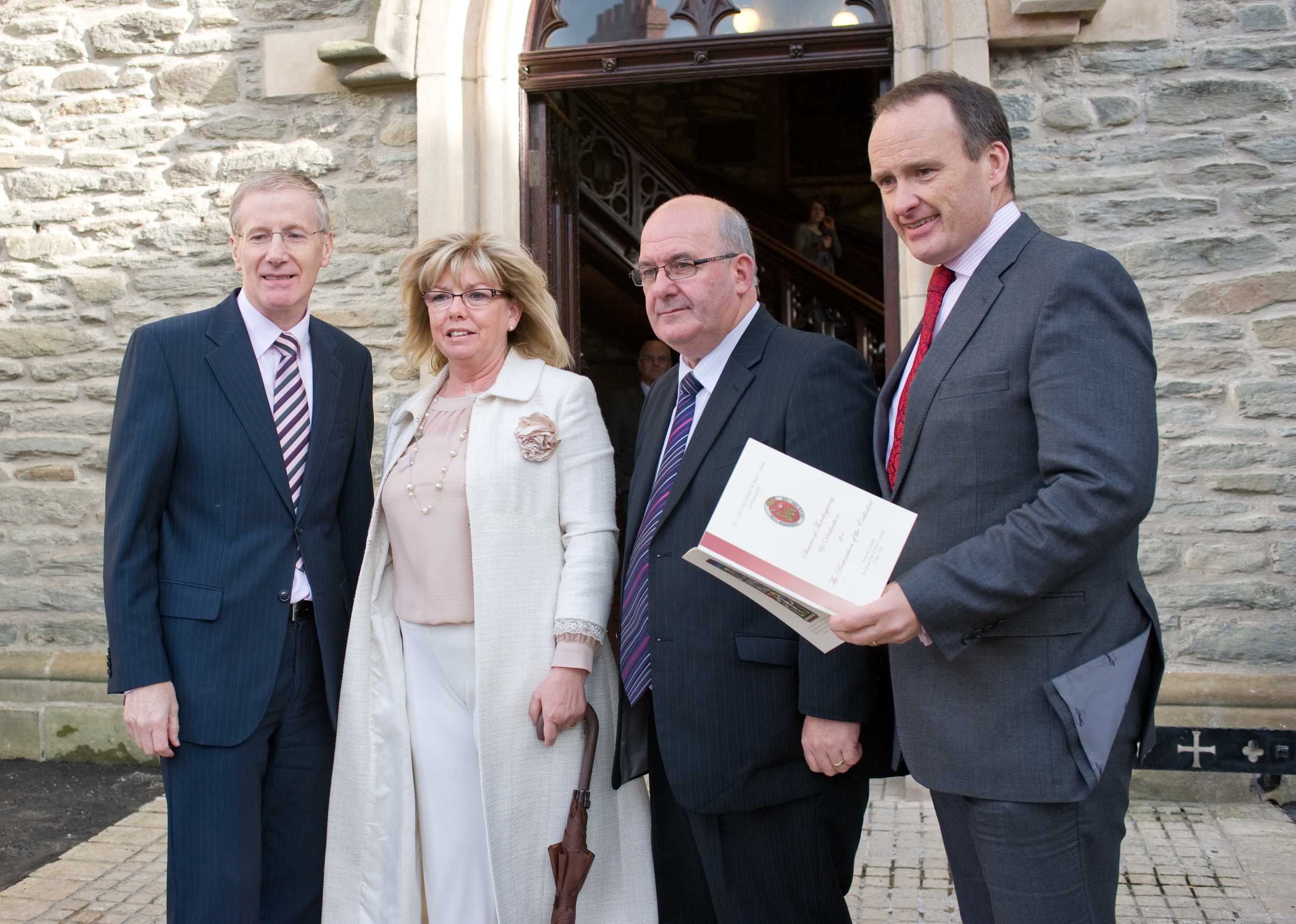 Howard Hastings (NITB Chair) welcomes VIPs to St Columb's Dedication - following multi million refurbishment