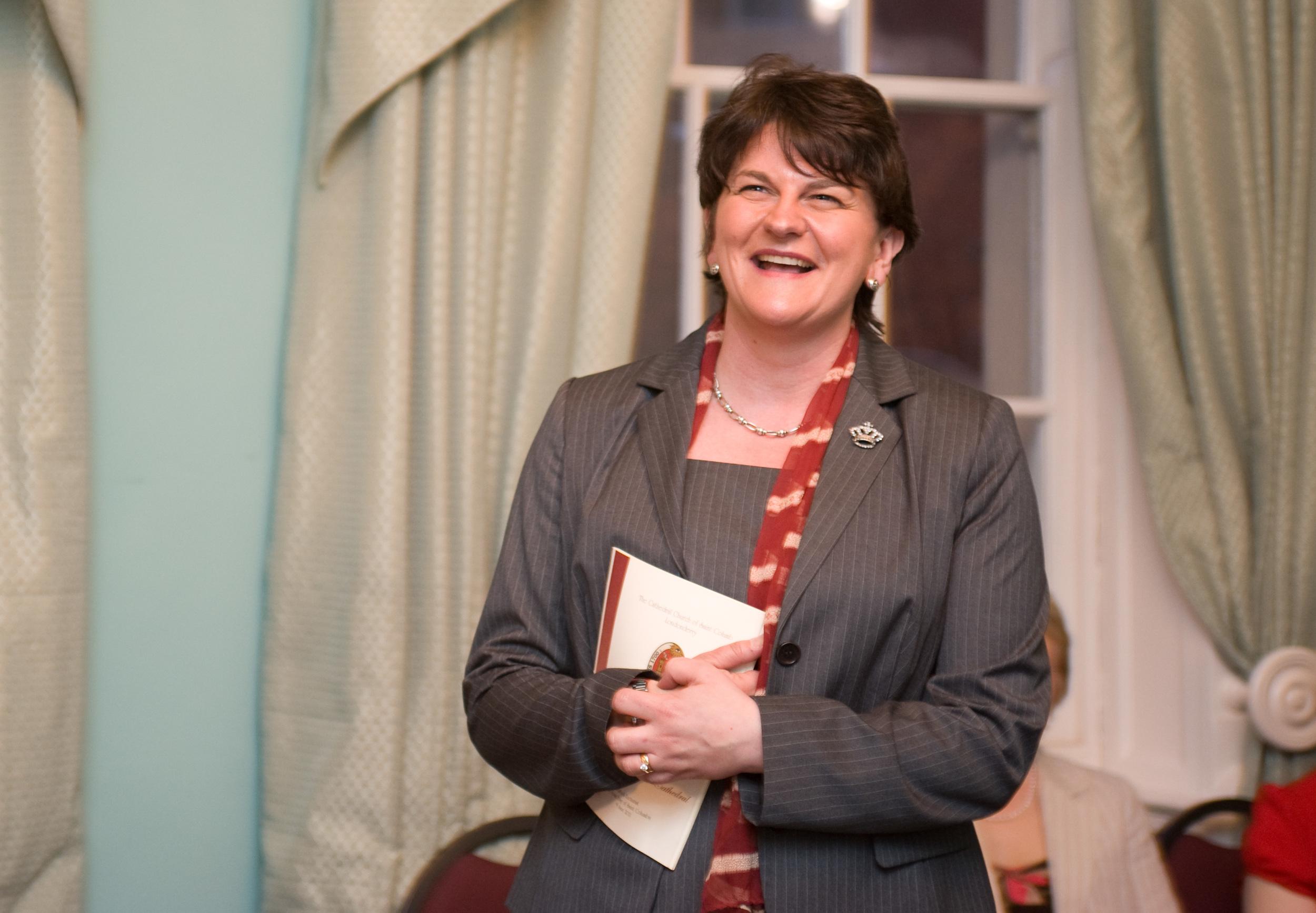 Minister Arlene Foster attends St Columb's Dedication - following multi million refurbishment