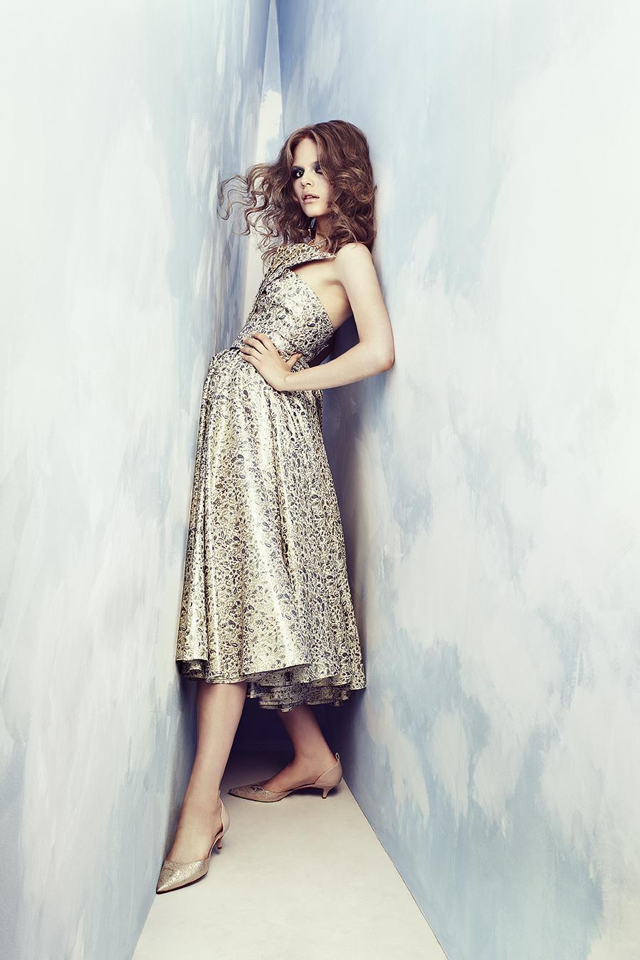 Dress by  Katayoon London ; Shoes by  Dune ; Earrings by  Jolita ; Necklace stylist's own
