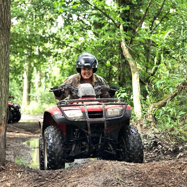 Get outdoors this Summer and come for a Quad Adventure with your family and friends!  Minimum age 12yrs  Are you ready for an exciting adventure through farmland and woodland trails?  Prepare to get muddy and have the best time ever on our natural trails through scenic Cheshire countryside  Helmet, overalls and gloves included in the price  Maximum group size is 10  Adults/juniors can mix for family days out £50 per person  Get booked in now by calling 01244 300321. • #quadbike #quad #family #familyactivity #familydayout #thingstodoincheshire #summerholidays #mud #adventure #quadadventure #countryside #fun #friends #chester #cheshire #atv #cheshirelife #honda #familyfun #gooutdoors #getoutside #summer #woodland #farm #tilefarmoffroad