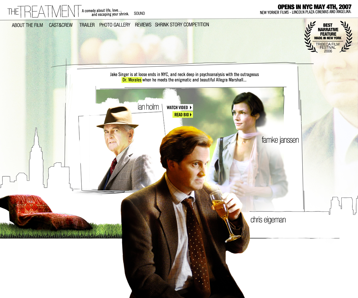 """Promotional site for the independent film """"The Treatment."""""""