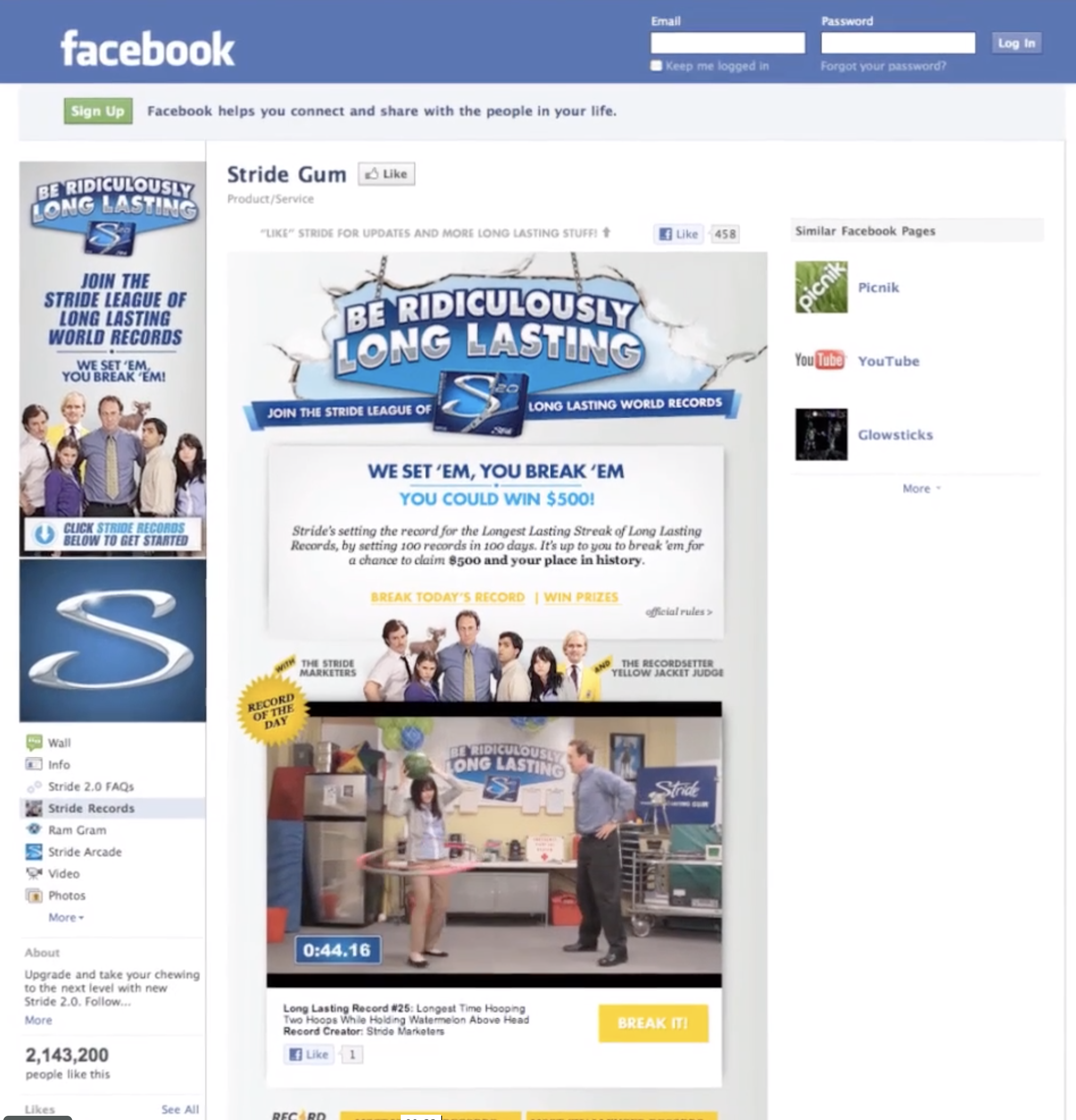 Challenges were issued daily across Facebook, Youtube, and RecordSetter.com to the potential record breakers.