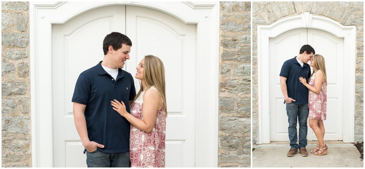 Lititz PA bride and groom Moravian Church engagement session Lancaster Wedding photo