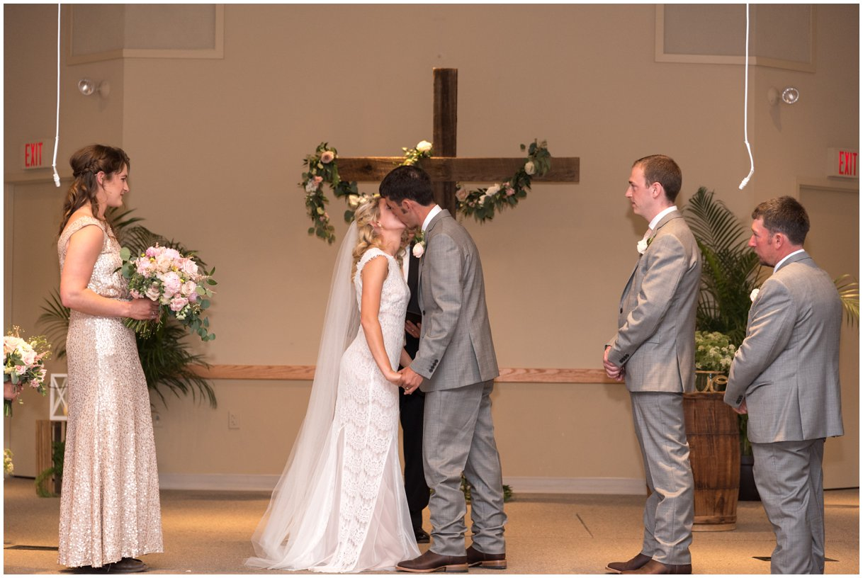 Lancaster pa Mechanics Grove COB wedding ceremony photo