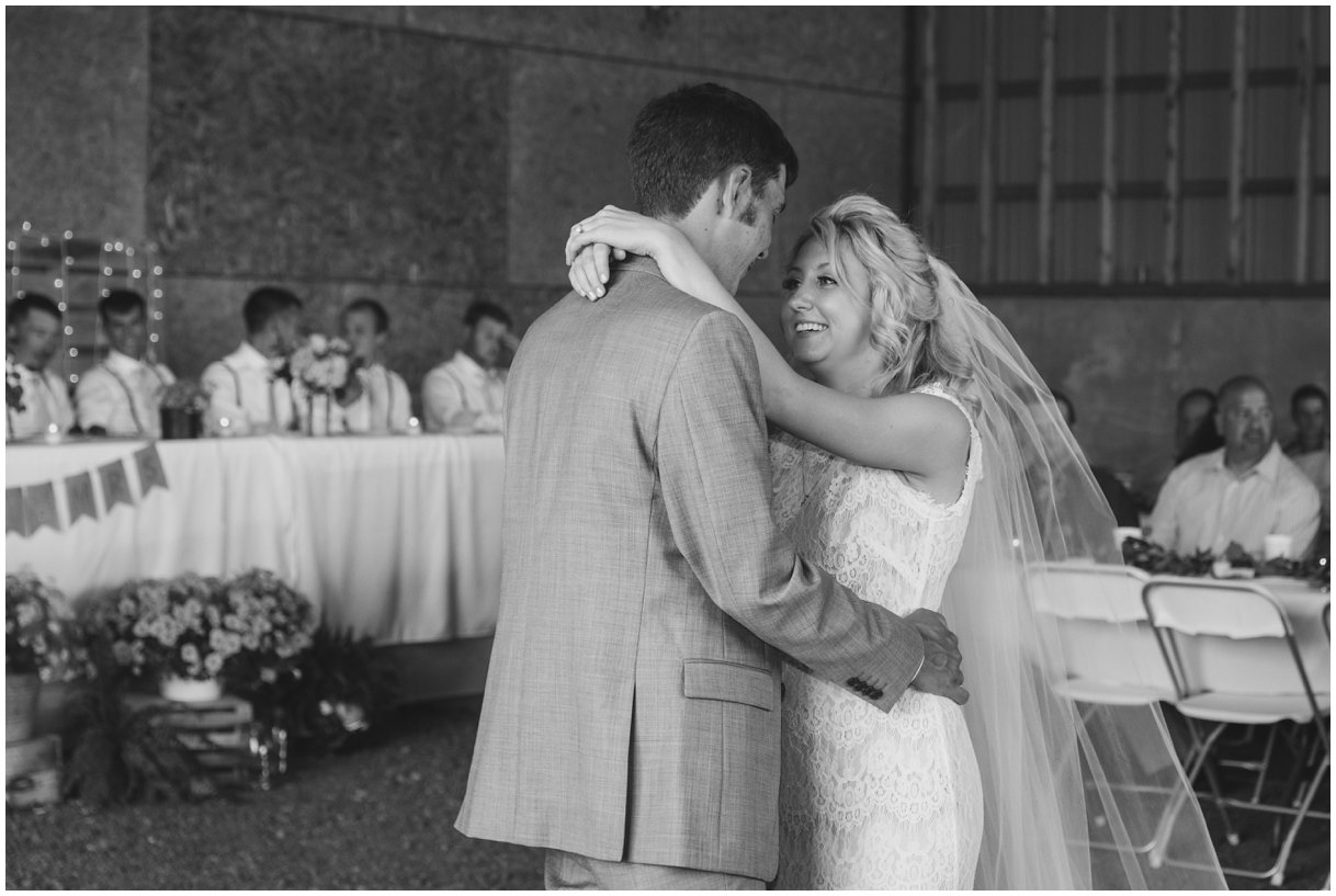 Bride and Groom dance Lancaster PA farm outdoor wedding photo