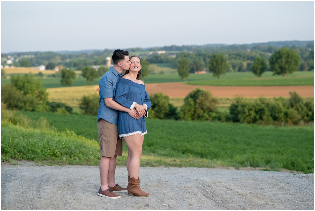 Lancaster County Southview Farm engagement session photo