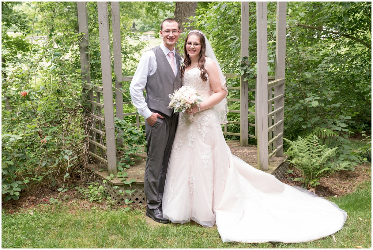 Bride and Groom portrait at Pheasant Run Bed and Breakfast Lancaster PA photo