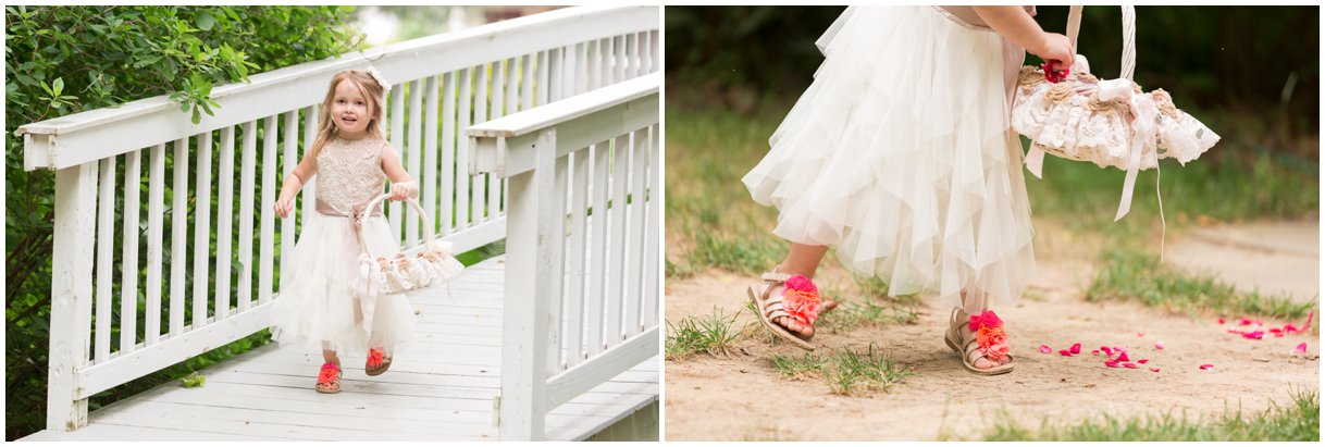 Flower Girl at wedding  at Pheasant Run Bed and Breakfast Lancaster PA on wedding day photo