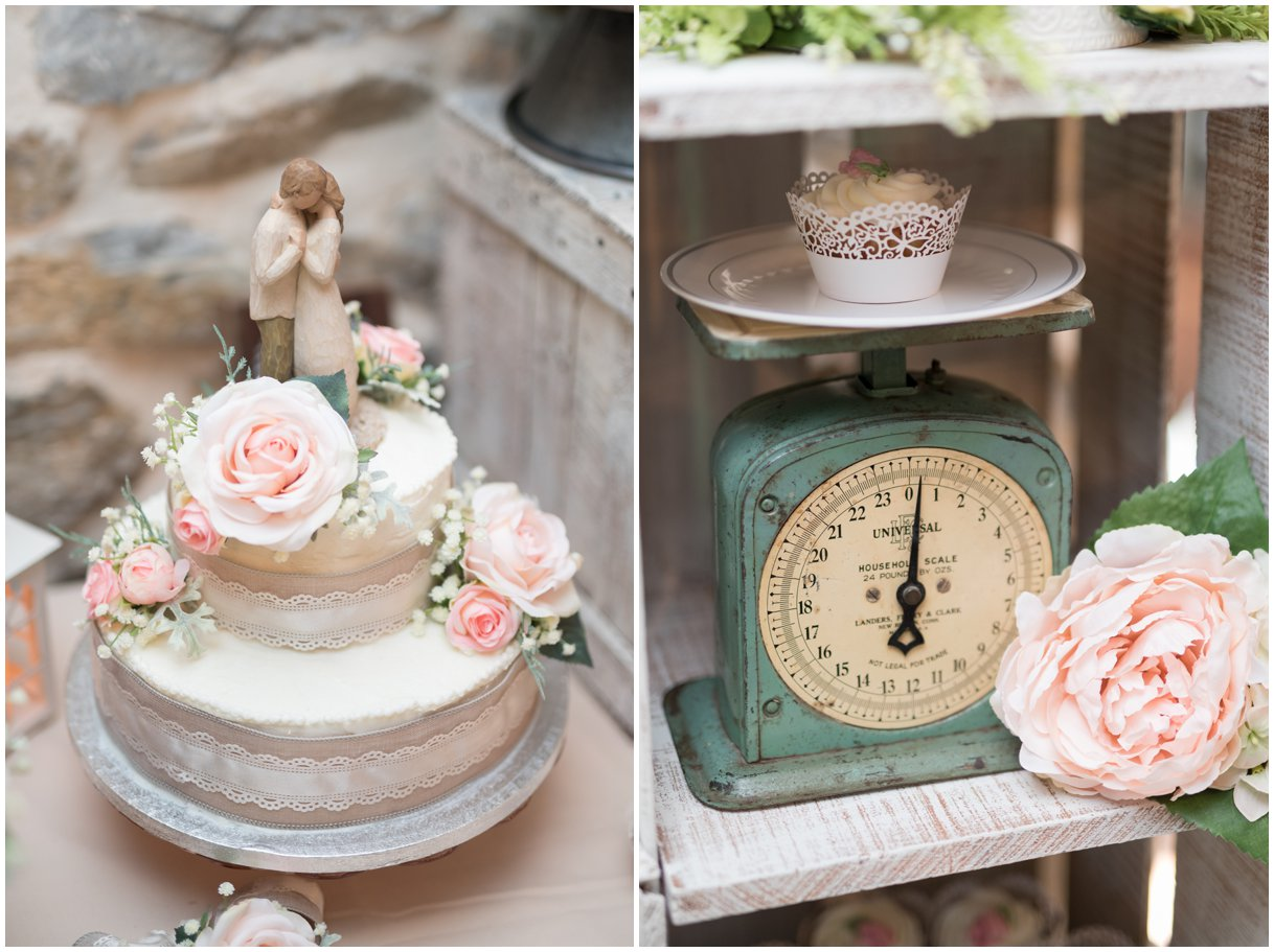 Reception details at Pheasant Run Bed and Breakfast Lancaster PA on wedding day photo