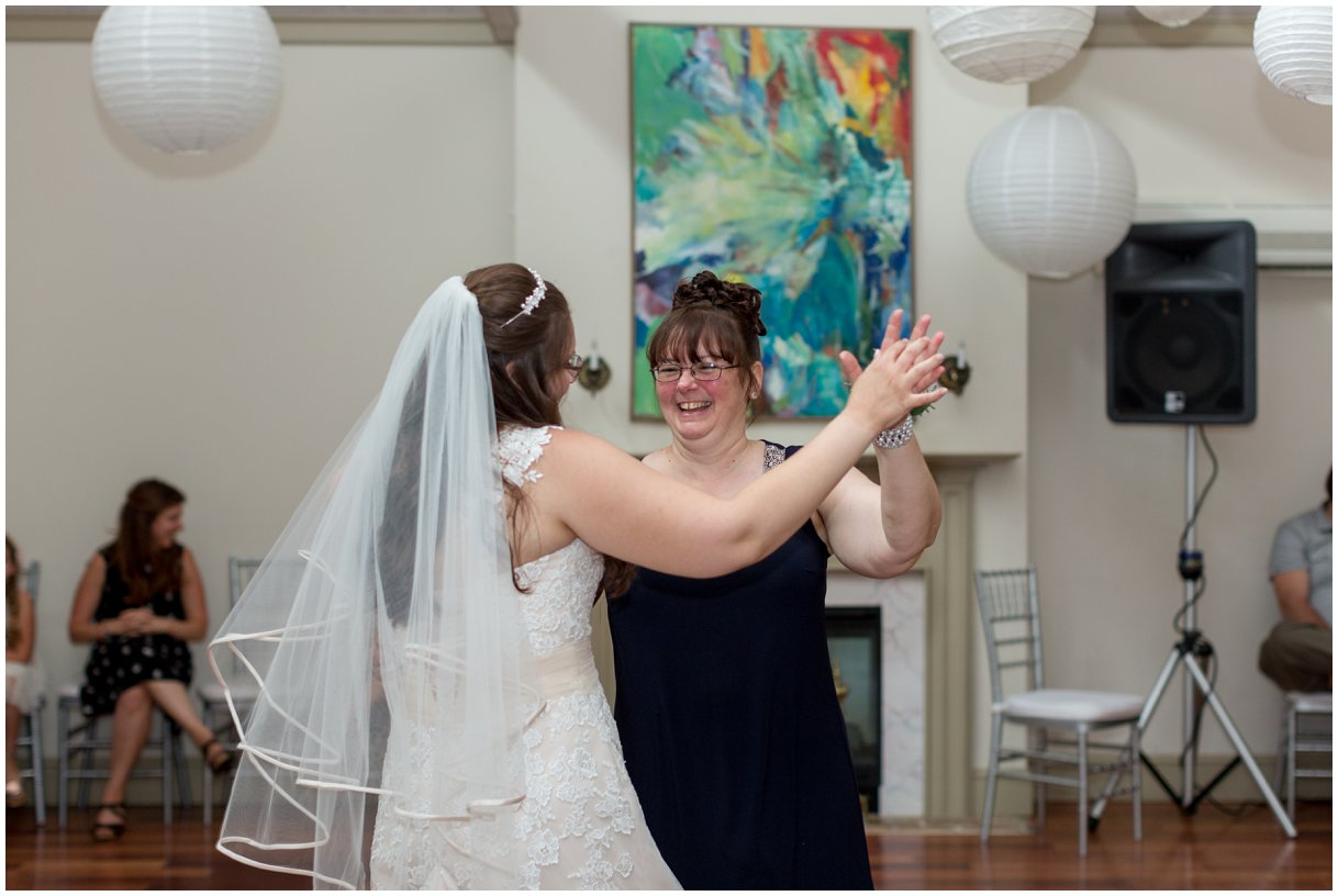 Mother daughter  dance at reception at Pheasant Run Bed and Breakfast Lancaster PA on wedding day photo
