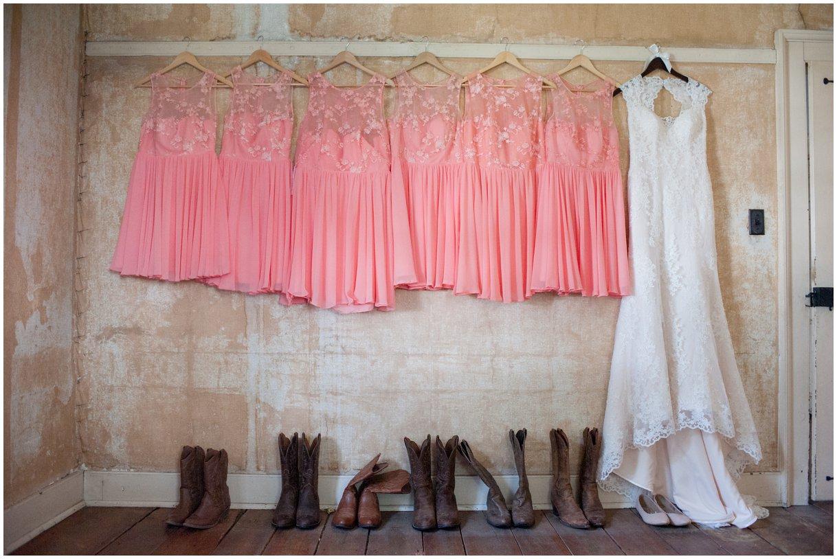 Strasburg farm wedding in Lancaster County bridal gown detail wedding photographer photo