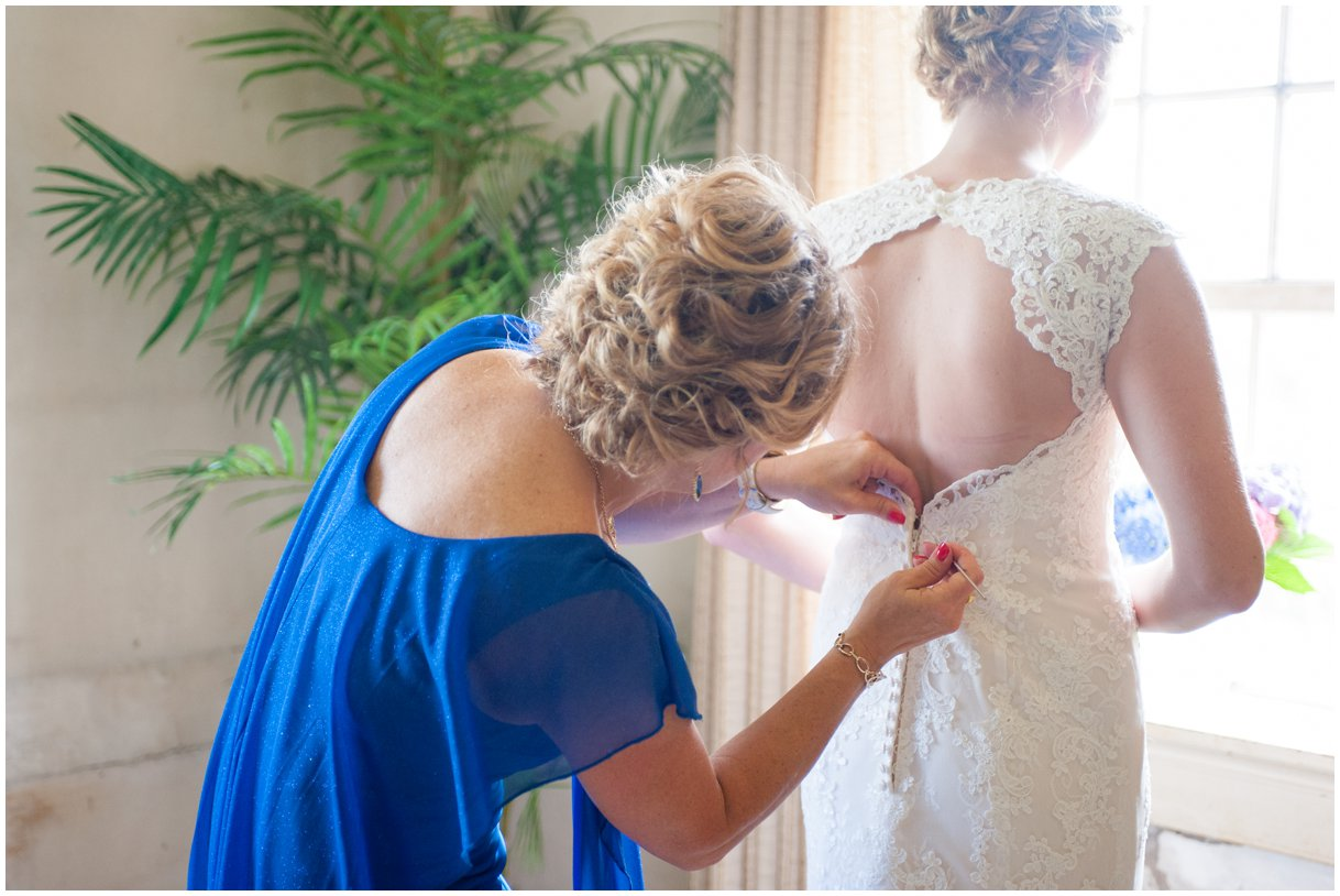 Strasburg farm wedding in Lancaster County wedding photographer bride getting ready photo