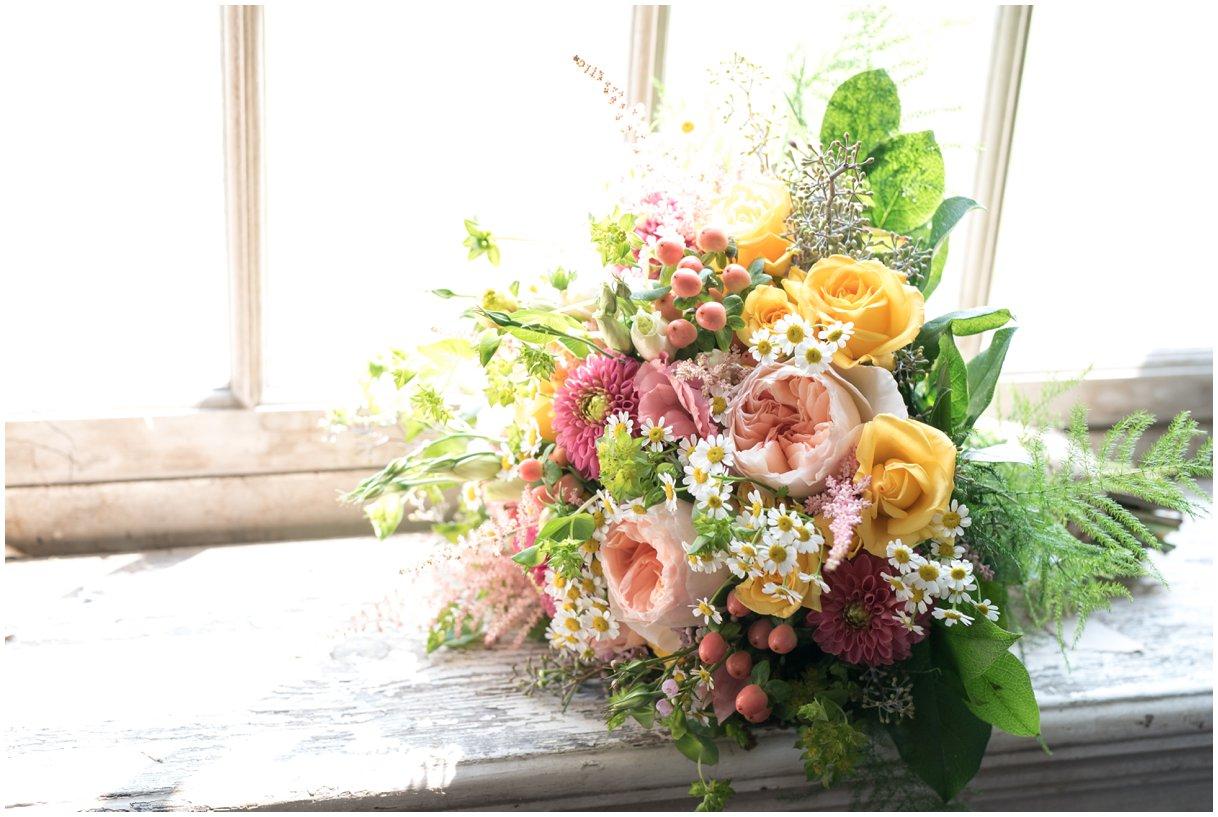 Strasburg farm wedding in Lancaster County wedding photographer bridal florals photo