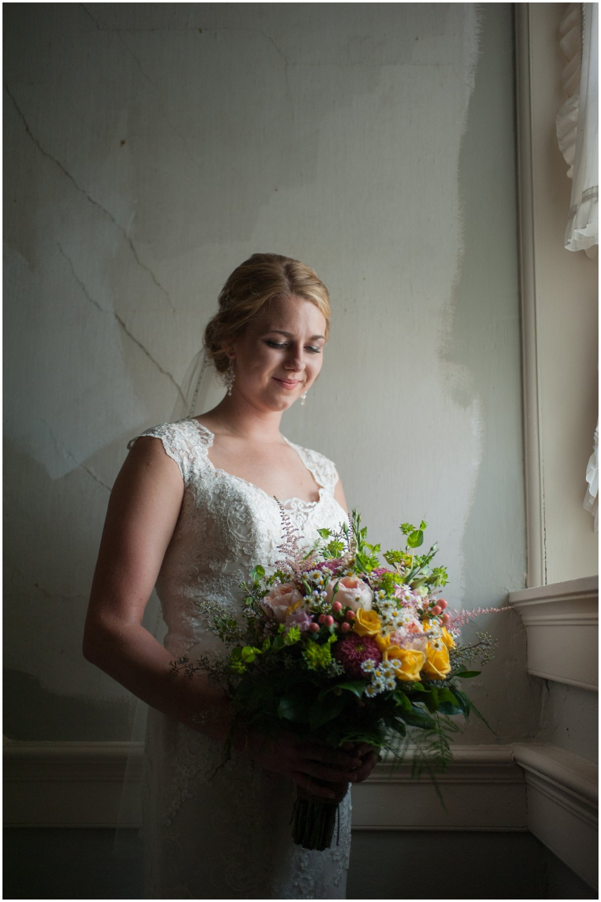 Strasburg farm wedding in Lancaster County wedding photographer bridal party  photo