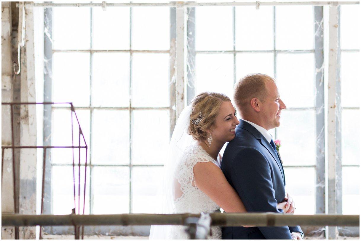 Strasburg farm wedding in Lancaster County wedding photographer first look photo