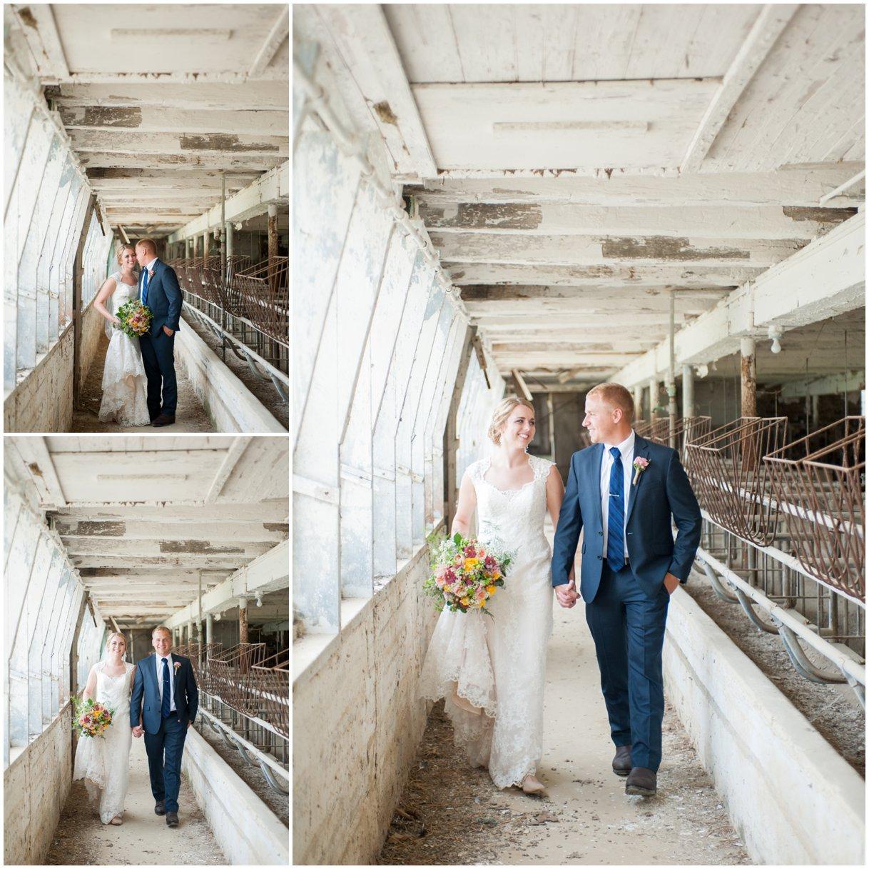Strasburg farm wedding in Lancaster County wedding photographer bride and groom portraits  photo