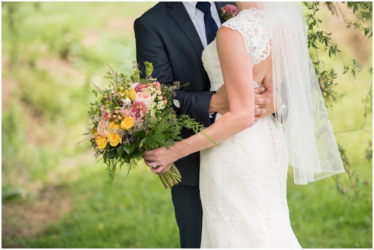 Bride and Groom portrait at Strasburg Farm Wedding in Lancaster Pa wedding photographer photo