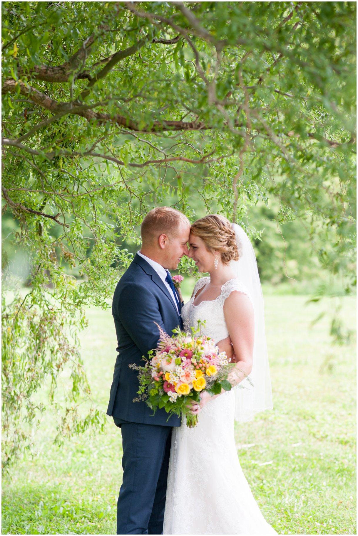 Strasburg farm wedding bride and groom portrait Lancaster county wedding photographer photo