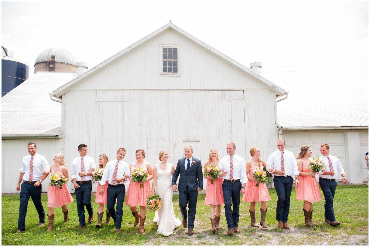 Strasburg farm wedding Bridal Party Image Lancaster county wedding photographer photo