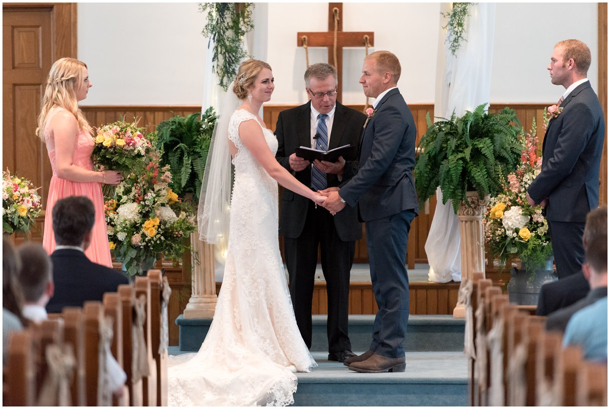 Strasburg farm weddingCeremony Image  Lancaster county wedding photographer photo
