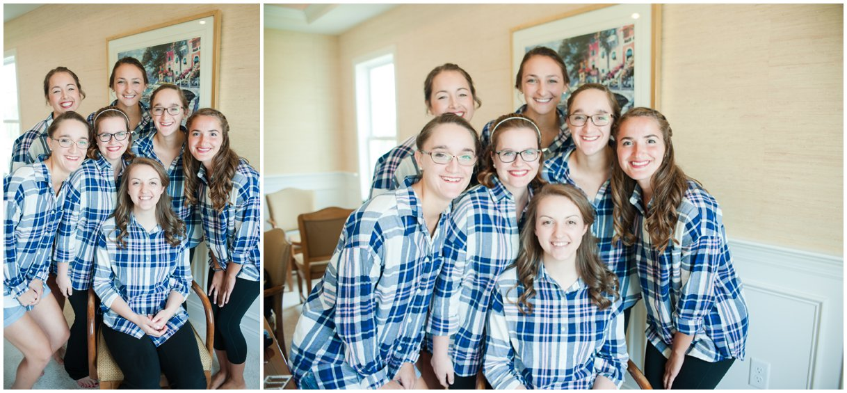Bridesmaids flannel shirts lancaster pa wedding photography photo