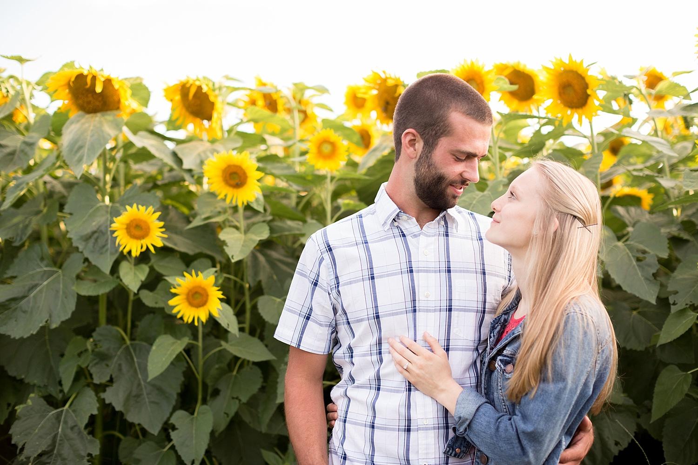Romantic engagement session in sunflower field lancaster pa wedding photographer photo_0006.jpg