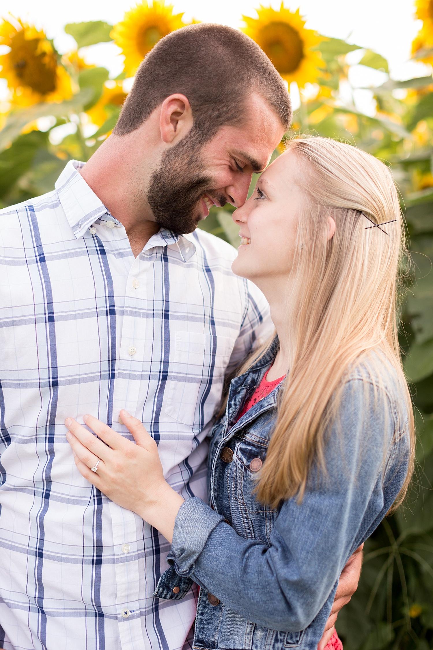Romantic engagement session in sunflower field lancaster pa wedding photographer photo_0007.jpg