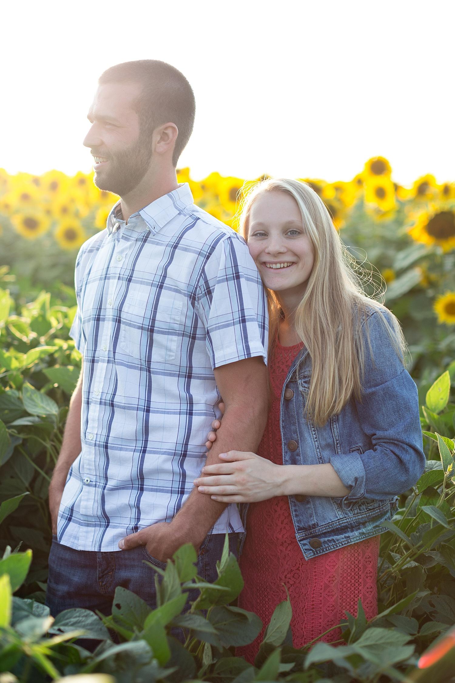 Romantic engagement session in sunflower field lancaster pa wedding photographer photo_0012.jpg