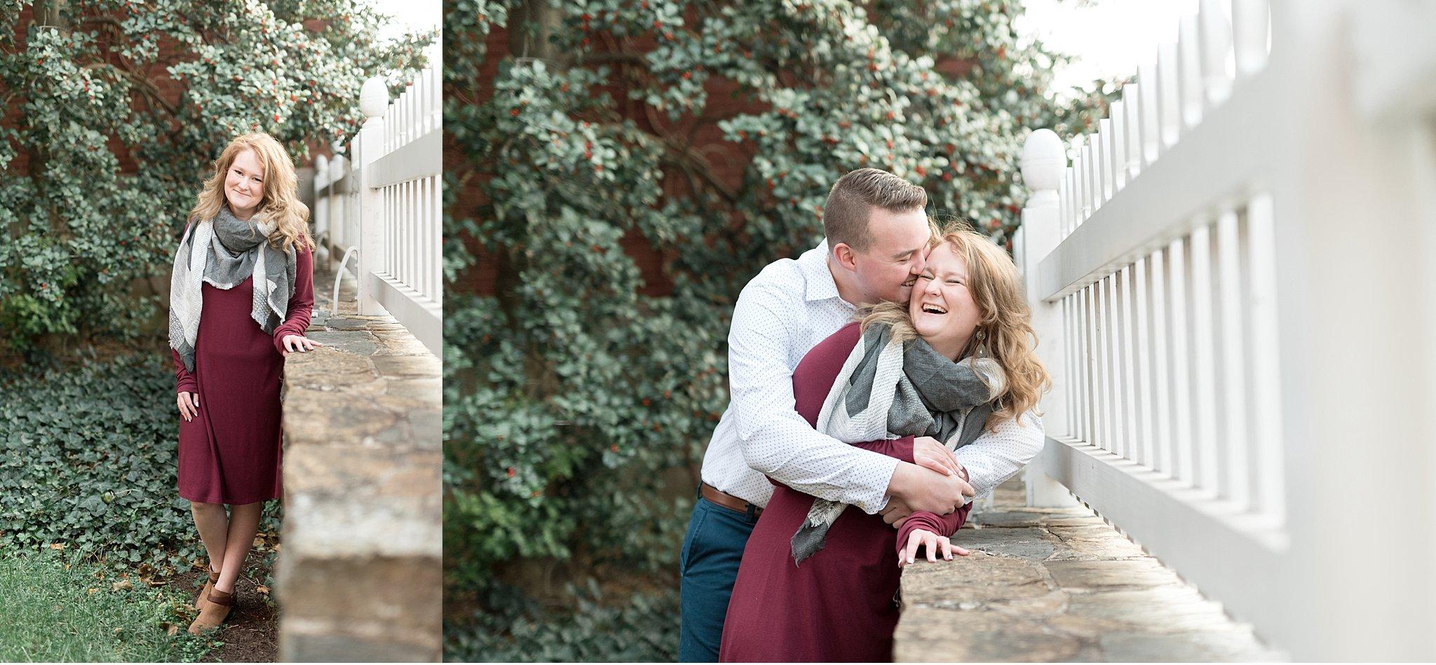 Winter engagement session Lancaster City Wedding Photographer photo