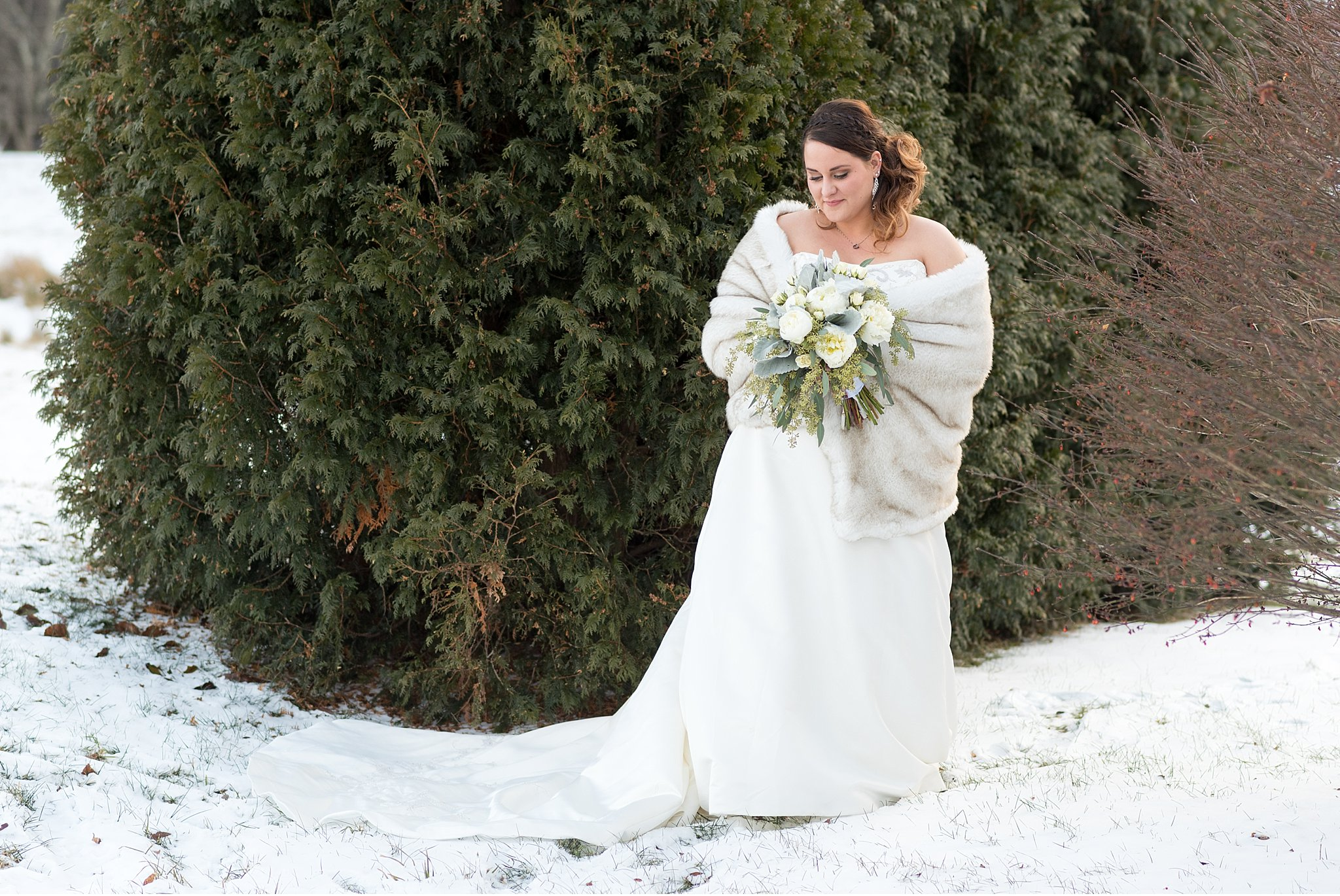 Winter elopemen snow covered vow exchange Coudersport PA photo_0579.jpg