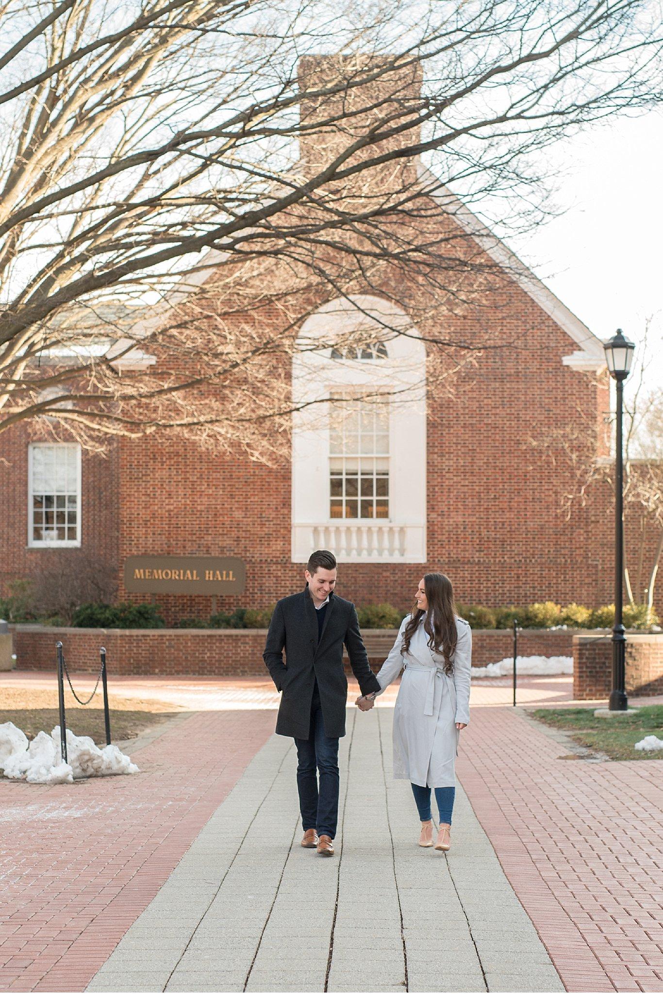 University of Delaware golden sun engagement session wedding photography photo