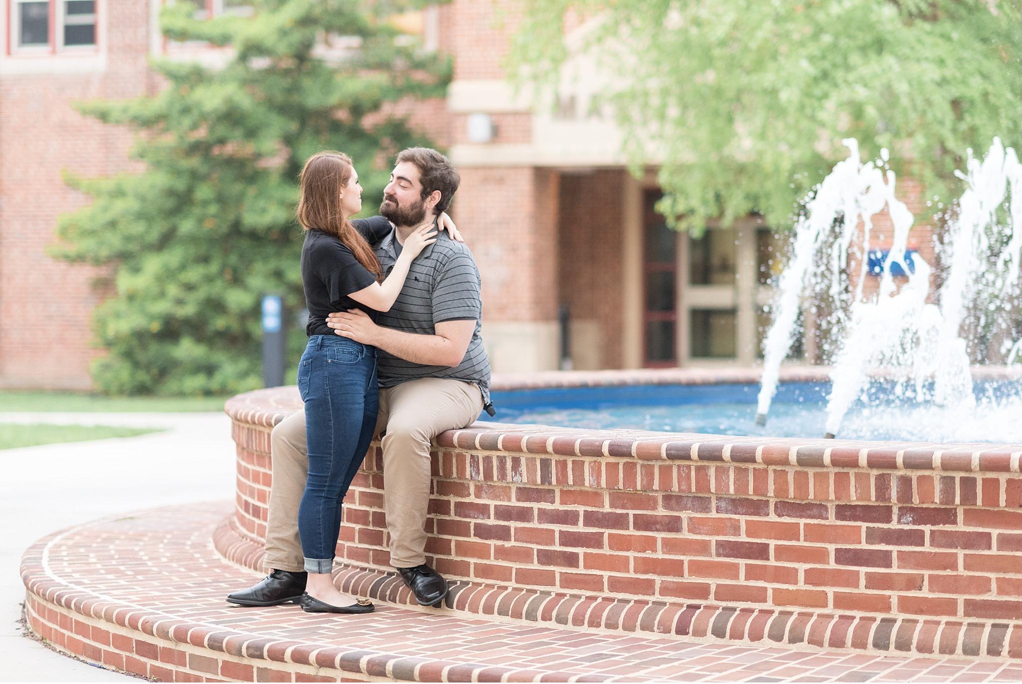 Rainy spring engagement session Gettysburg College Campus Wedding Photography Photo_1488.jpg