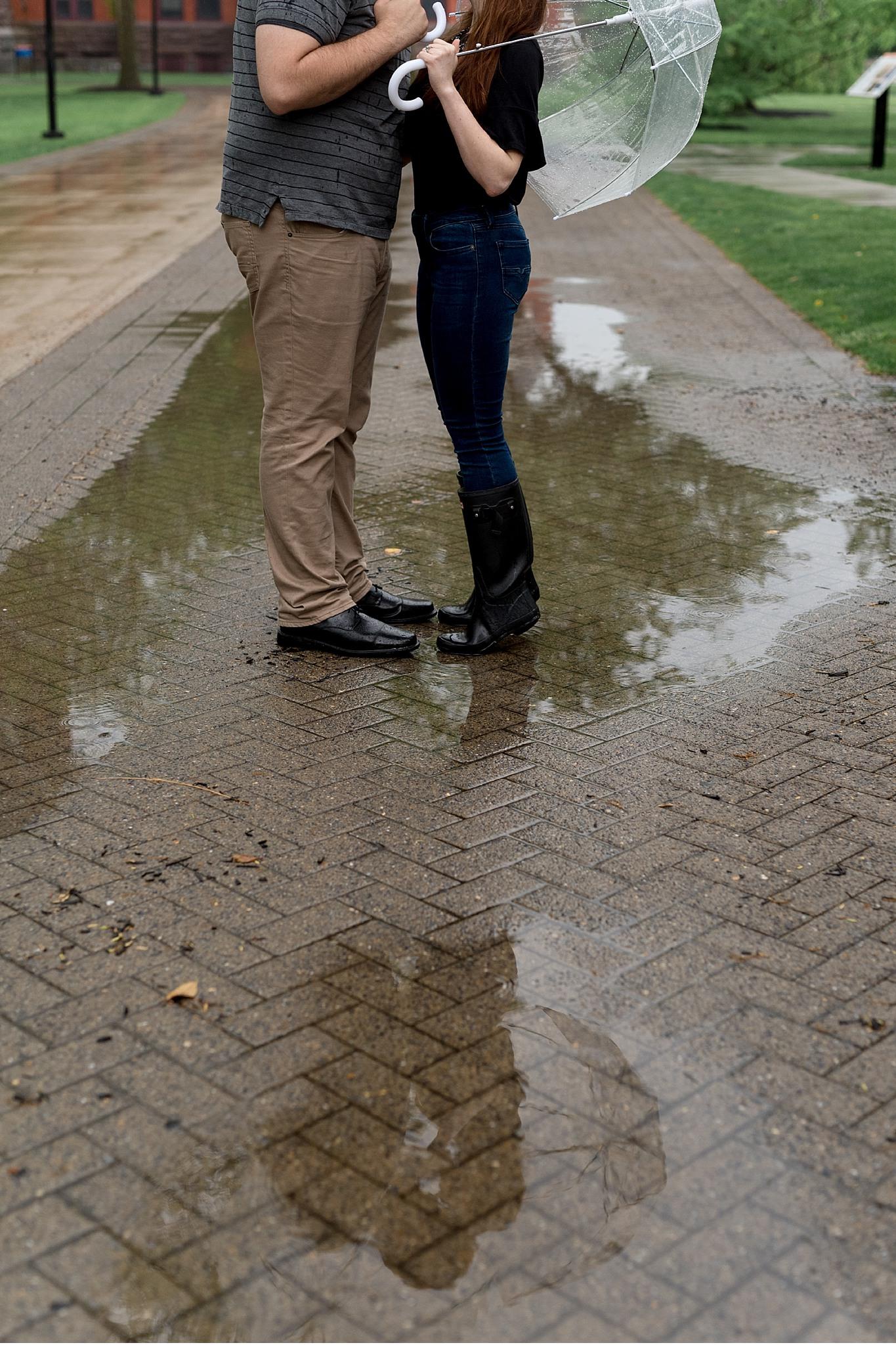 Rainy spring engagement session Gettysburg College Campus Wedding Photography Photo_1498.jpg