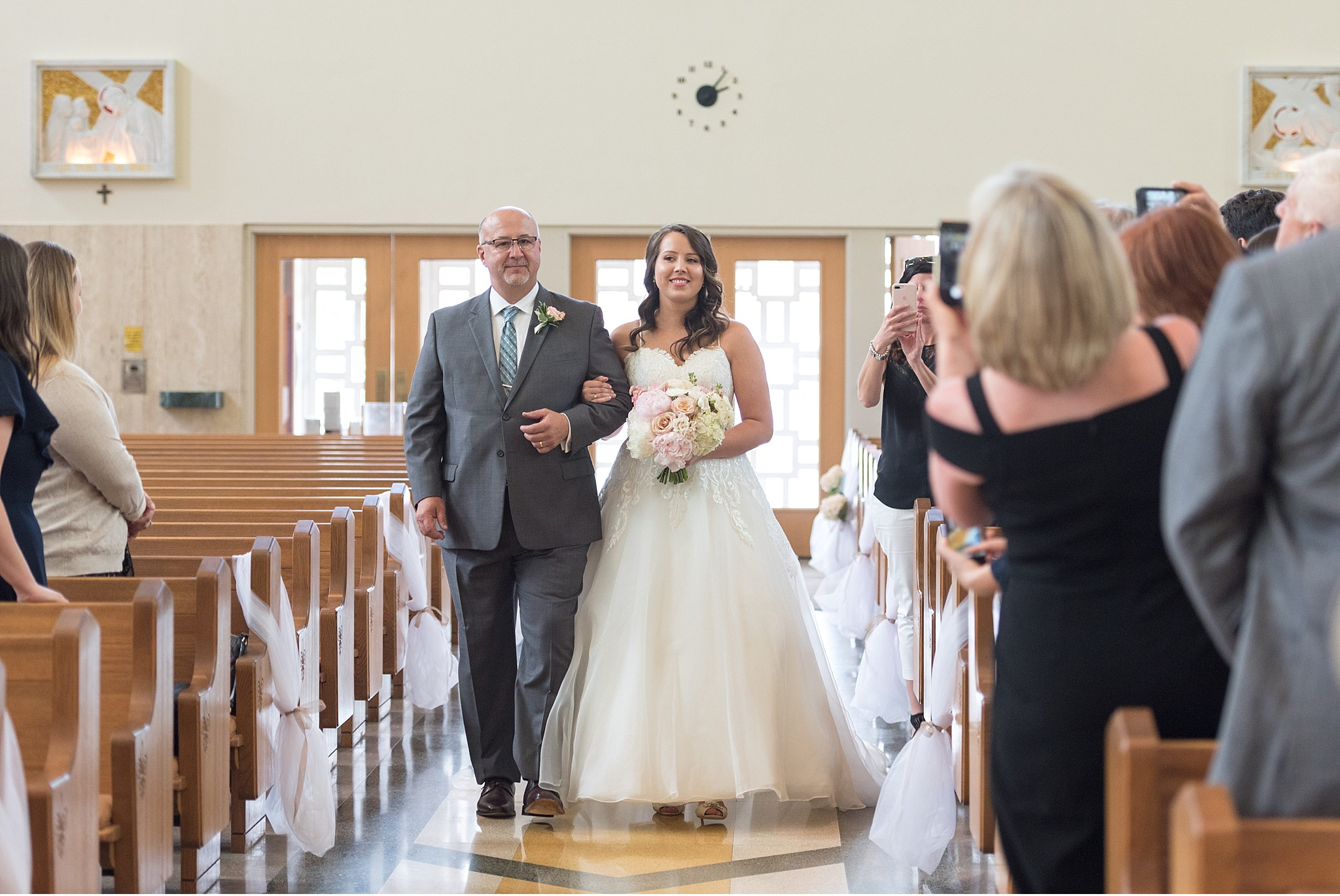 Bride and her Father Hershey Gardens Hershey Country Club Summer beautiful wedding photography