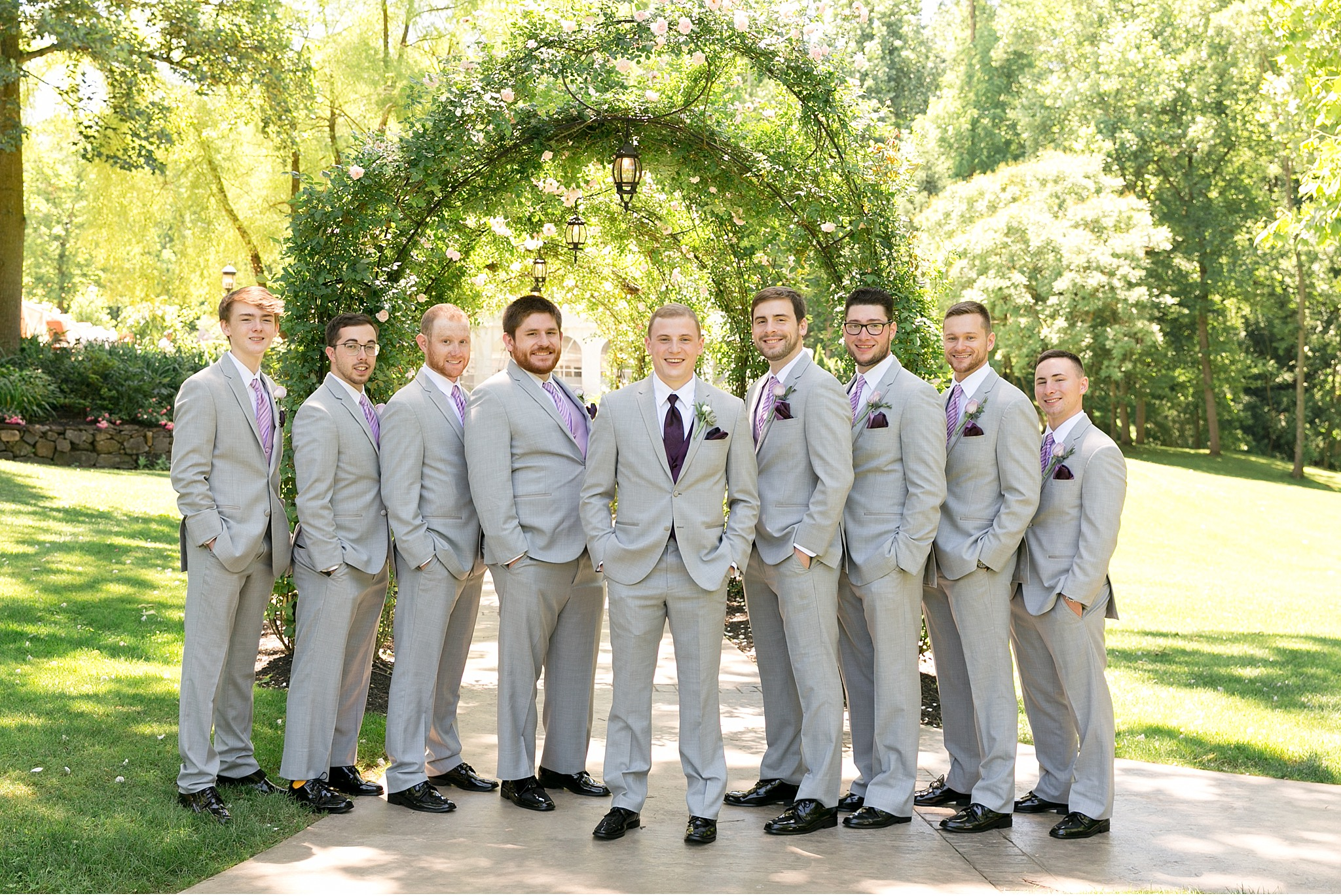 Groomsmen Moonstone Manor Elizabethtown PA purple and grey wedding photography photo_1691.jpg