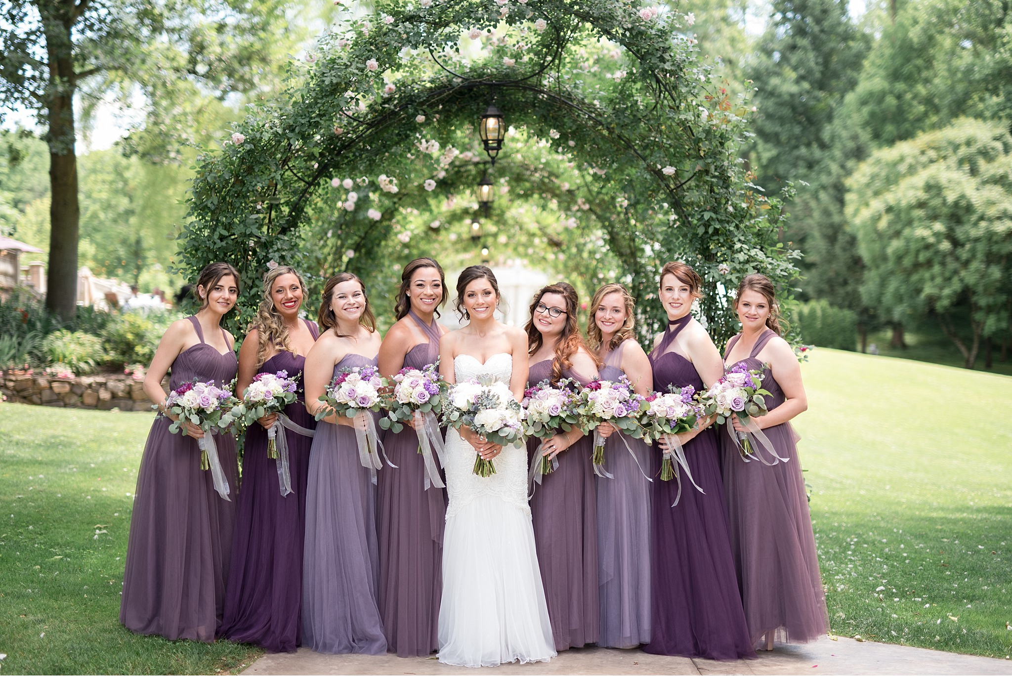 Bridesmaids and bride Moonstone Manor Elizabethtown PA purple and grey wedding photography photo_1692.jpg