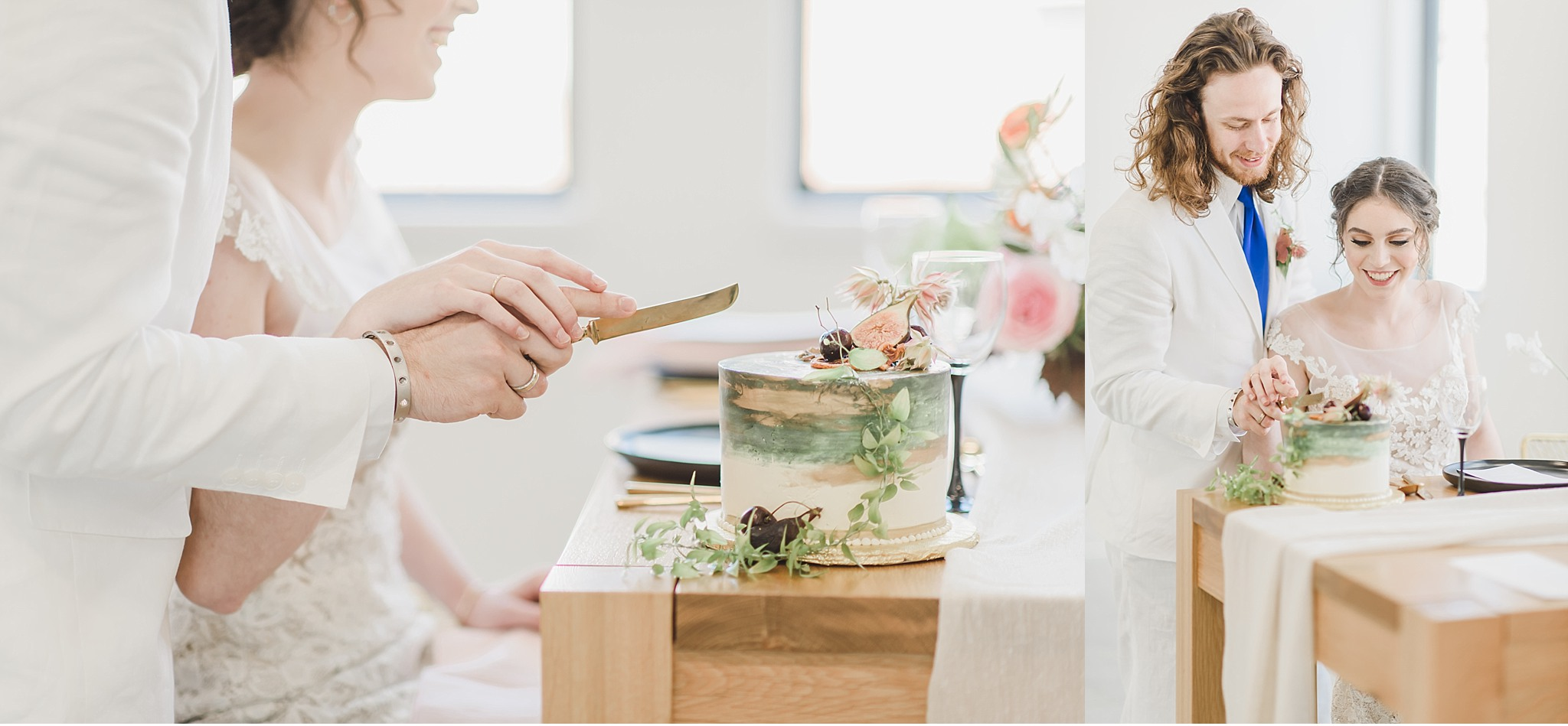 Bride and Groom cake cutting Light and Airy Styled Greek Wedding Supply Manheim PA Wedding photography photo_1909.jpg