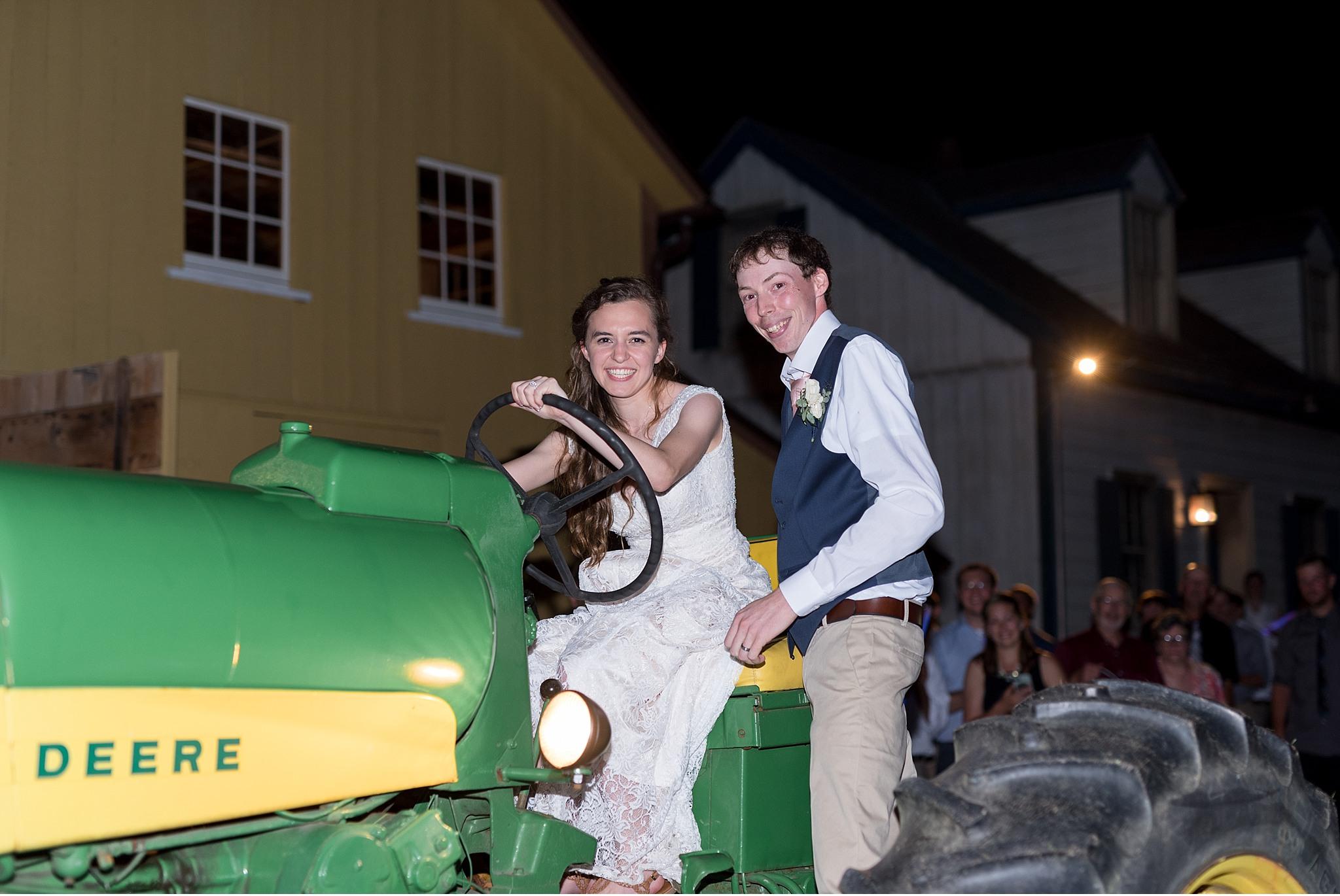 Romantic Summer wedding Landis Valley Museum Lancaster PA wedding photography John Deere Tractor_1999.jpg