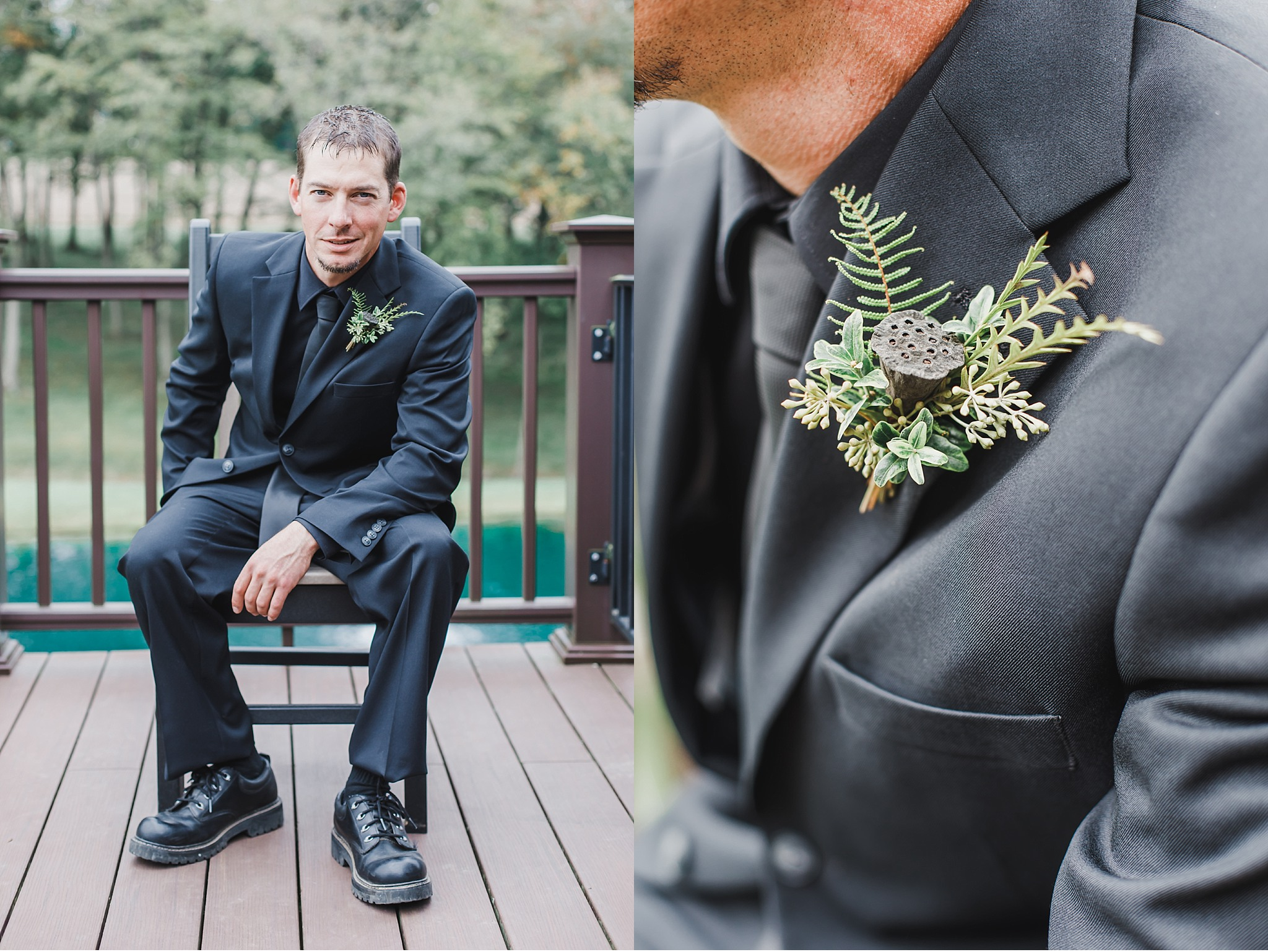Elegant Black and Gold Farm Wedding Lancaster County Photography Light and airy Photo