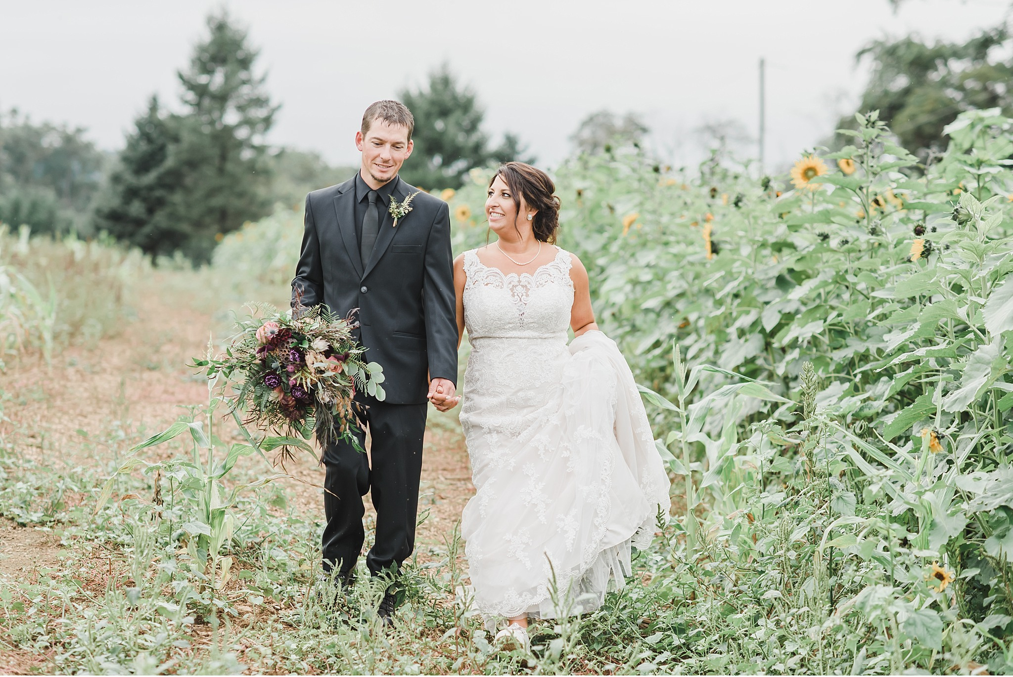 Elegant black and gold wedding Lancaster County farm light and airy photography photo