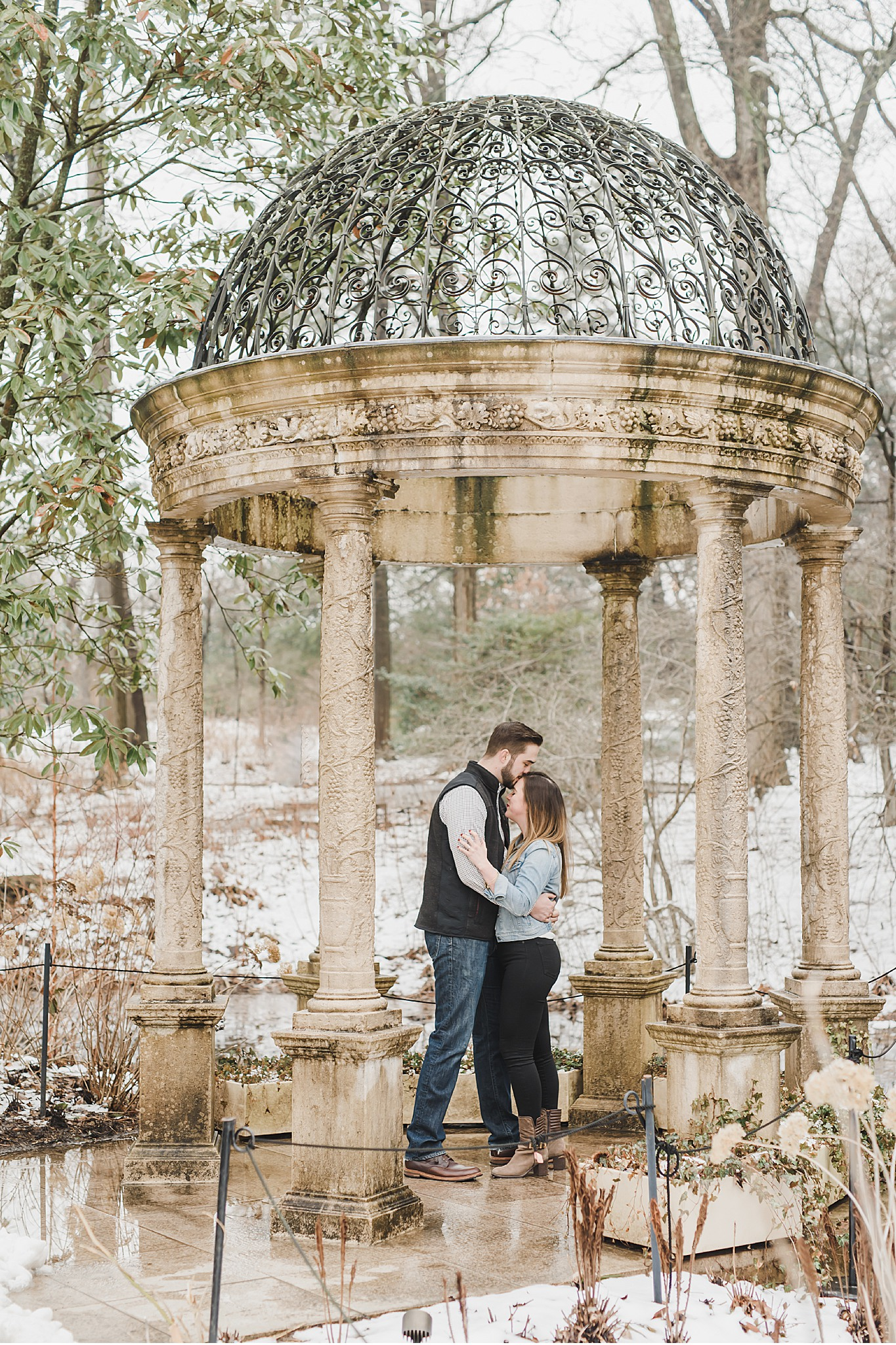 Longwood Gardens Orchid Engagement Wedding Photography