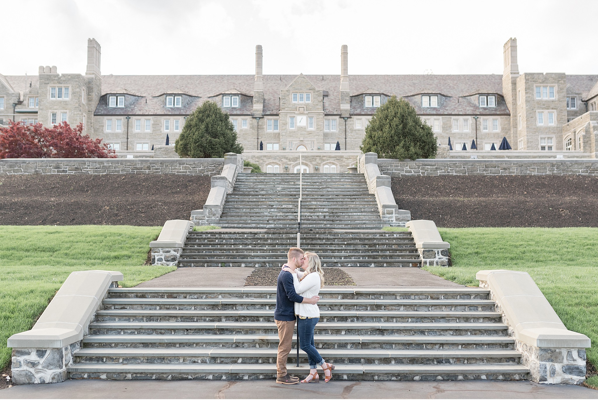 Engagement session Masonic Village Elizabethtown PA Formal Gardens