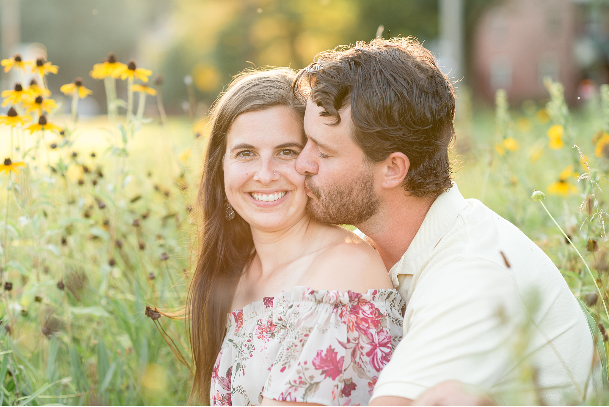 Chickies Rock Overlook Golden Sun Engagement Session